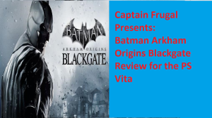 Batman PS Vita review